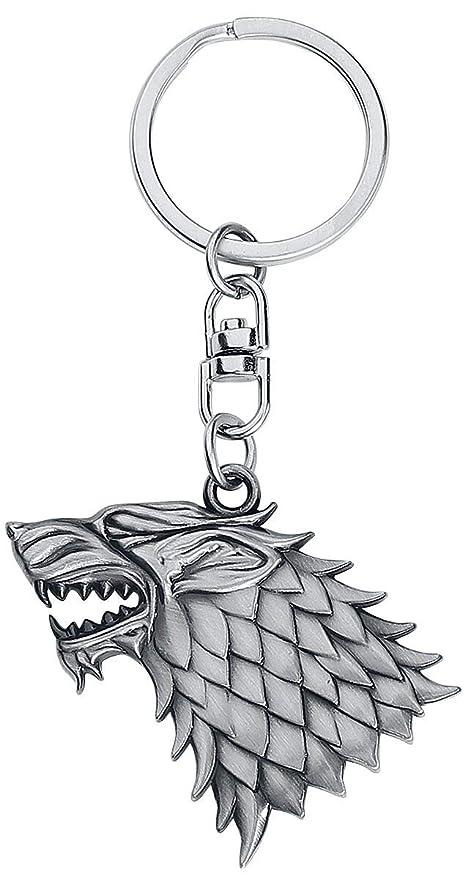 Game Of Thrones Juego de Tronos key060 casa de Stark 3D Efecto Llavero