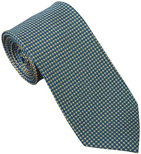 Sebastien Grey Men's 7 Fold Silk Tie Houndstooth Design