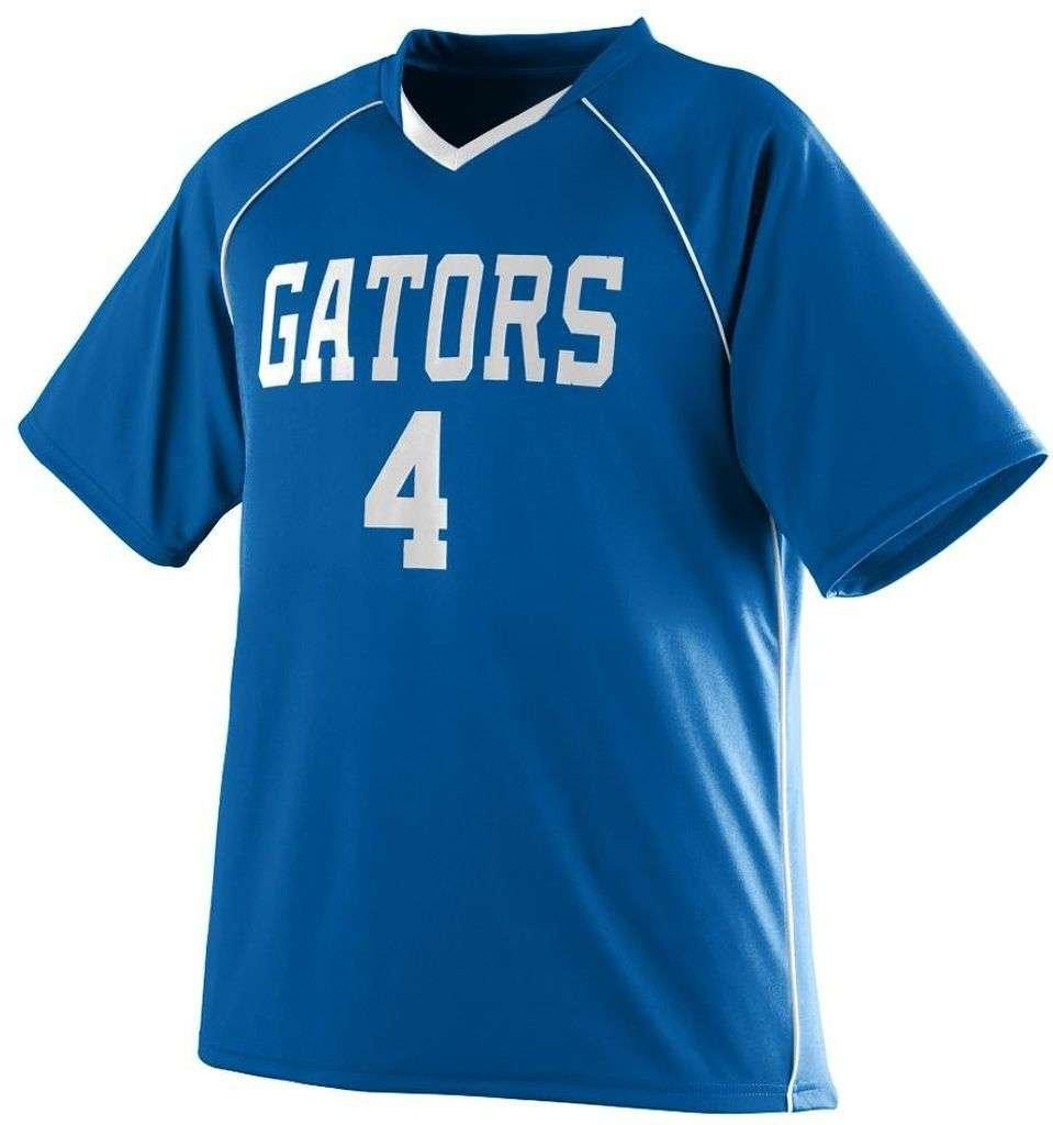 Augusta Sportswear Boys ' Striker Jersey B00HJTMZO4ロイヤル/ホワイト Large