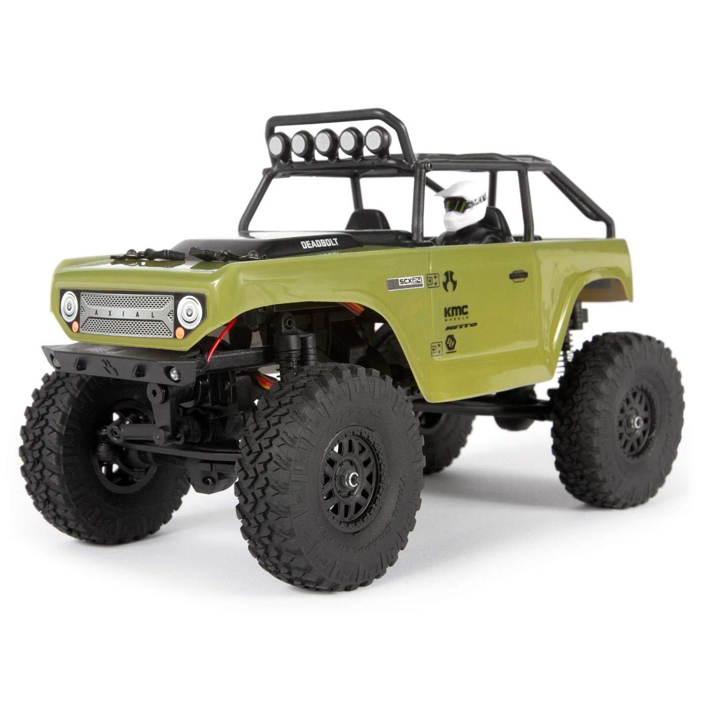 Axial 1/24 SCX24 Deadbolt 4WD Rock Crawler Brushed RTR, Green, AXI90081T2