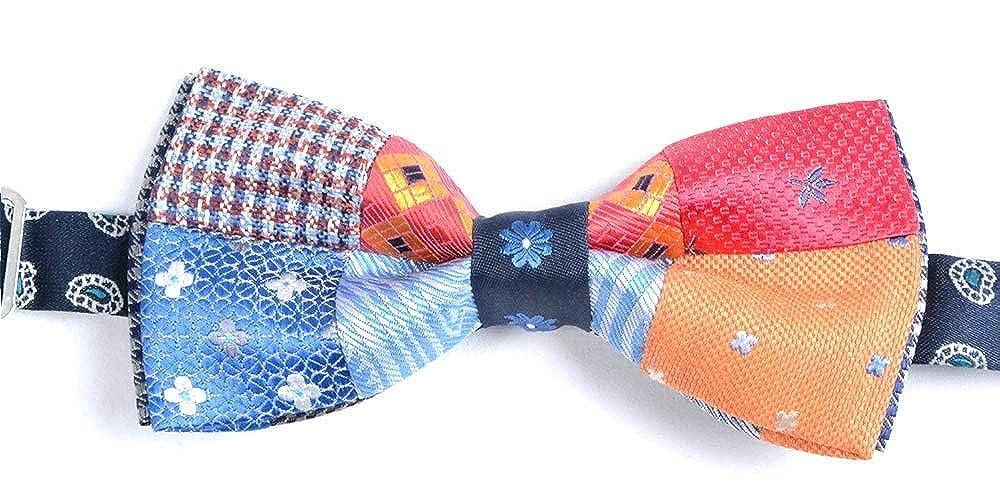 Graffeo - Corbata de pajarita para hombre, patchwork, multicolor ...