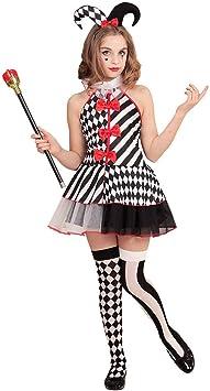 NET TOYS Atractivo Disfraz de arlequín para niña - 123 - 128 cm, 5 ...