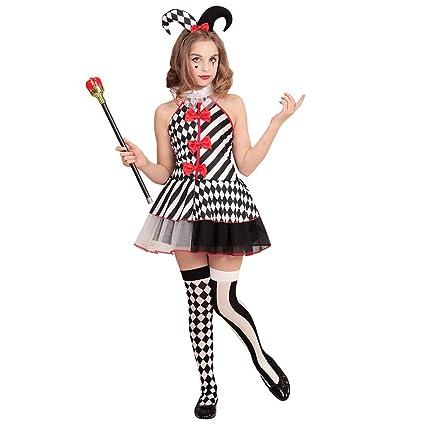 NET TOYS Atractivo Disfraz de arlequín para niña - 135 - 140 cm, 8 ...