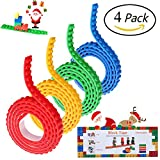 Toys : 4 Rolls Building Block Tape,Gloween Lego Blocks Tape with Self Adhesive Backing for Lego Blocks,Silicone Building Blocks Tape for Lego Lover,Kids Toy Gift