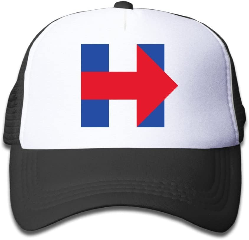 Hittings Youth Hillary Clinton 2016 Election Cartoon Adjustable Baseball Trucker Caps For Boys And Girls One Size Black