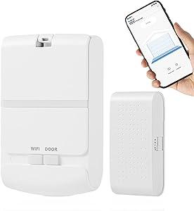 Newoke Wireless Garage Door Opener Remote, Smart Wi-Fi Garage Door Opener, Smart Phone App Control,Compatible with Alexa, Google Assistant, Smart Life, No Hub Needed