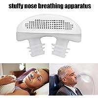 Leegoal (TM) Schnarchstopper, magnetischer Silikon-Nasenclip, Schlafgerät das gegen Atembeschwerden bei einer verstopften Nase hilft, Atmungsapparat - Blau
