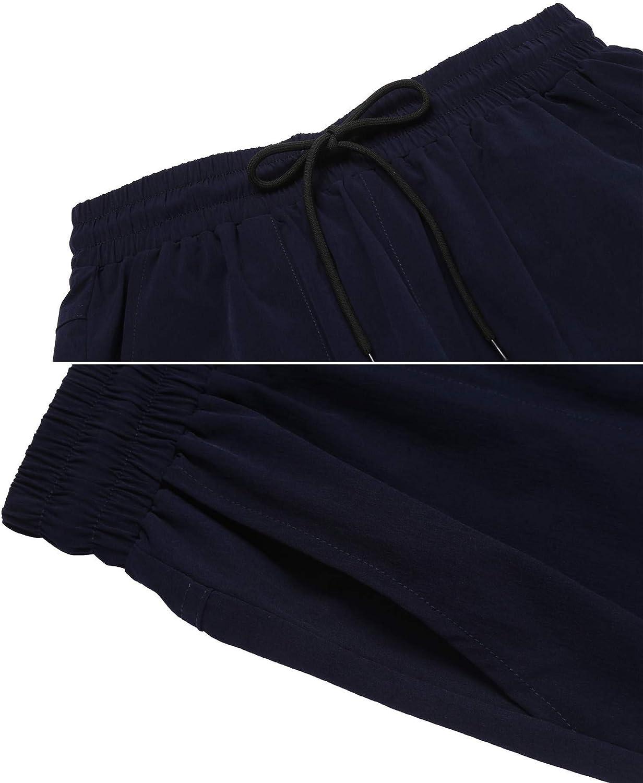 Womens Hiking Pants Outdoor Quick Drying Cargo Capri Pants Lightweight Trousers