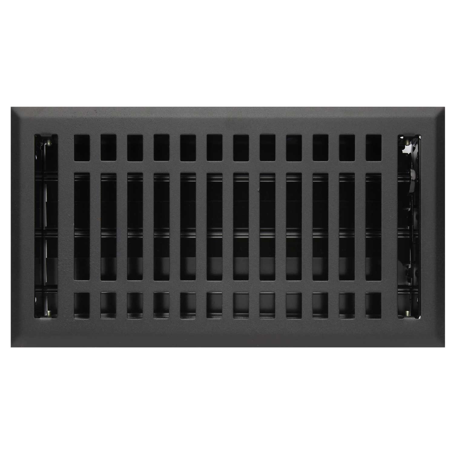 Naiture 4'' x 12'' Steel Wall Register Contemporary Style Black Finish