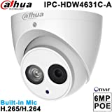 Dahua Ip Camera Ipc-Hdw4631C-A 2.8Mm Poe Dom Security Camera 6Mp Super