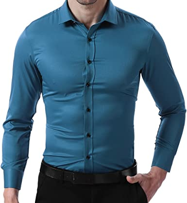 MENS PARTY DRESS SHINY COLLAR  LONG SLEEVE FORMAL SHIRT WAS £29.99 TO 16.99 320