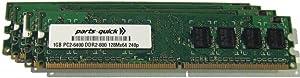 4GB Memory Upgrade for Dell Inspiron 531 Desktop PC 4 X 1GB DDR2 Non-ECC PC2-6400 240 pin 800MHz DIMM RAM (PARTS-QUICK Brand)