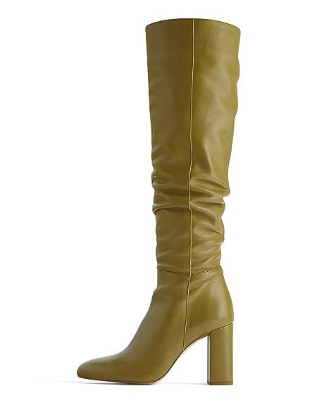 metà fuori 22e99 7b41c Zara 6002/001 - Stivali da Donna in Pelle con Tacco Alto e Gamba ...