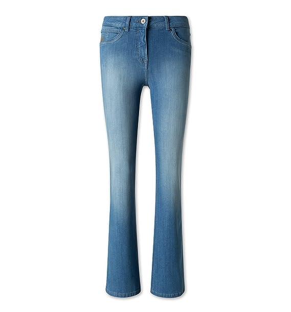Cup of Joe Damen Jeans Kim Bootcut Haze Blue
