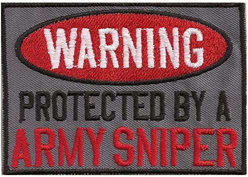 WARNING Aufn/äher US Biker protected by a Army Sniper Patch MC Abzeichen