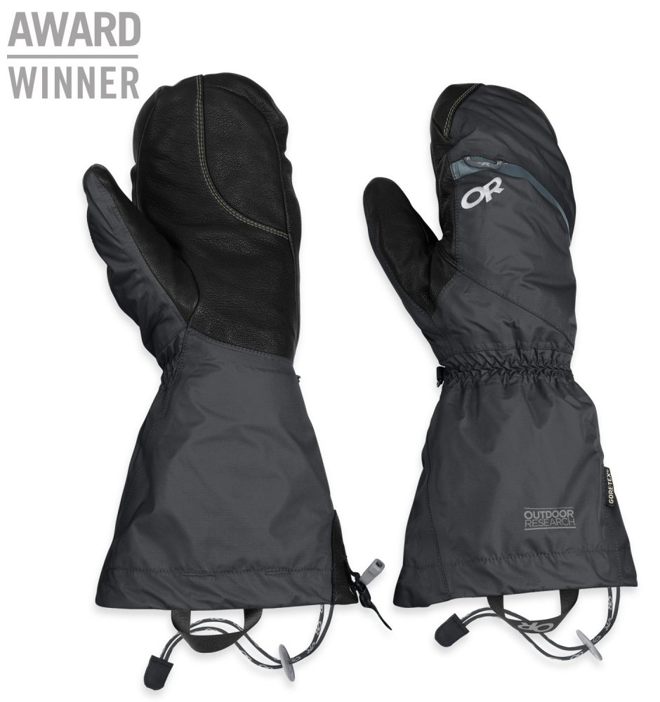 Outdoor Research Women's Alti Mitts Black M & Cap Bundle by Outdoor Research