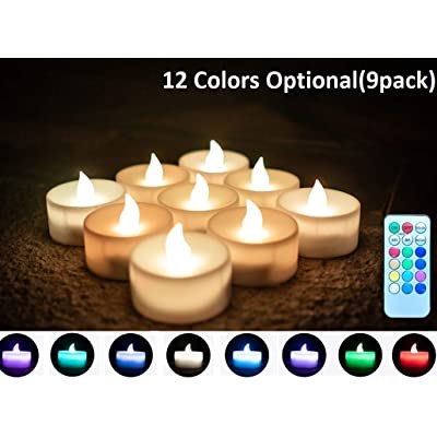 LPHSNR Color Changing Tea Lights Flameless Candles Flickering,Battery Operated Led Votive Candals with Remote, for Weeding Party Festival: Home Improvement