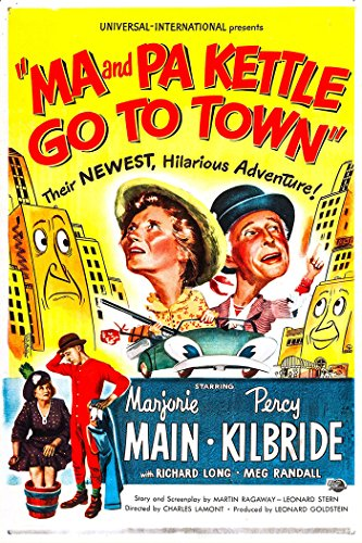 Ma And Pa Kettle Go To Town Movie Poster or Canvas