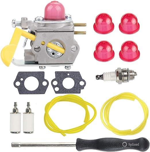 HIPA c1u-w24 545081808 carburador + Tune Up Kit spark plug para ...