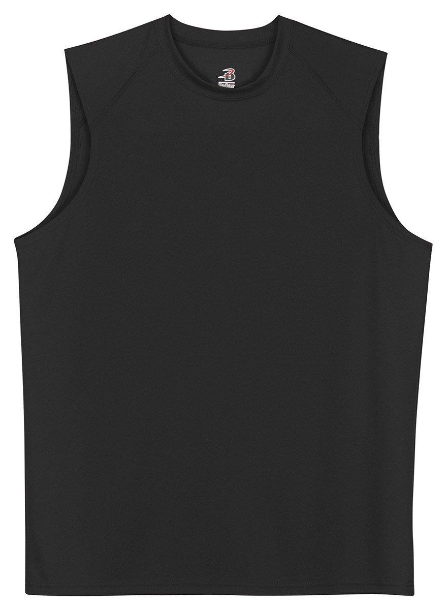 Badger Sportswear B-Dry Sleeveless Athletic Performance T-Shirt, 4XL, Black