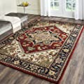 Safavieh Heritage Collection HG625A Handmade Traditional Oriental Red Wool Area Rug