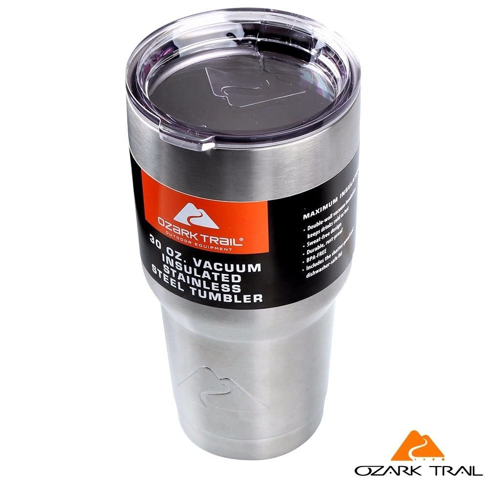 Ozark Trail 30-Ounce Double-Wall, Vacuum-Sealed Tumbler, Stainless Steel