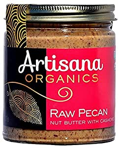 Artisana Organics - Pecan Nut Butter with Cashews, Two Ingredients Handmade Rich and Thick Spread, USDA Organic Certified and Non-GMO (8 oz)