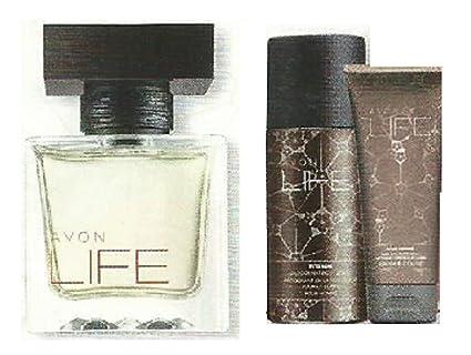 Avon vida para él Set – Agua de colonia para mujer, Desodorante Body Spray,
