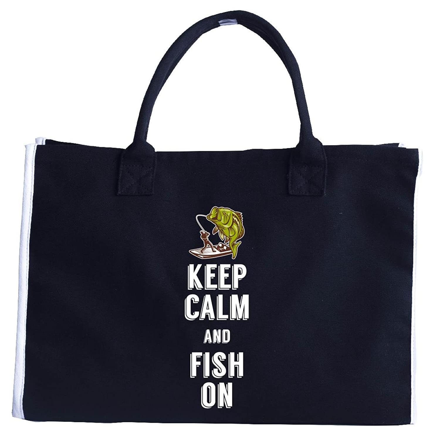 Keep Calm And Fish On Funny Gifts For Any Fishing Fan - Tote Bag
