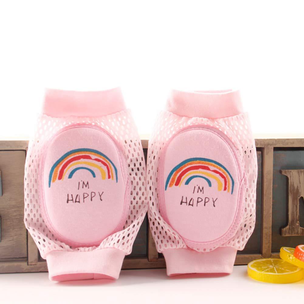 ulofpc Crawling Baby Cartoon Knee Pads Elastic Anti-Slip Breathable Protector Soft Little Leg Warmers