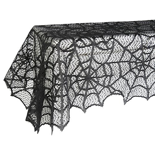 Fenta Spider Web Retangle Lace Table Banner Halloween Party Table Decoration
