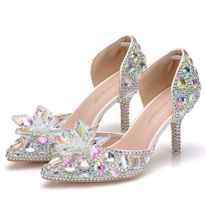 Brillantes Tacones De Boda Altos Moojm Zapatos Sandalias Mujeres WIYznTaq