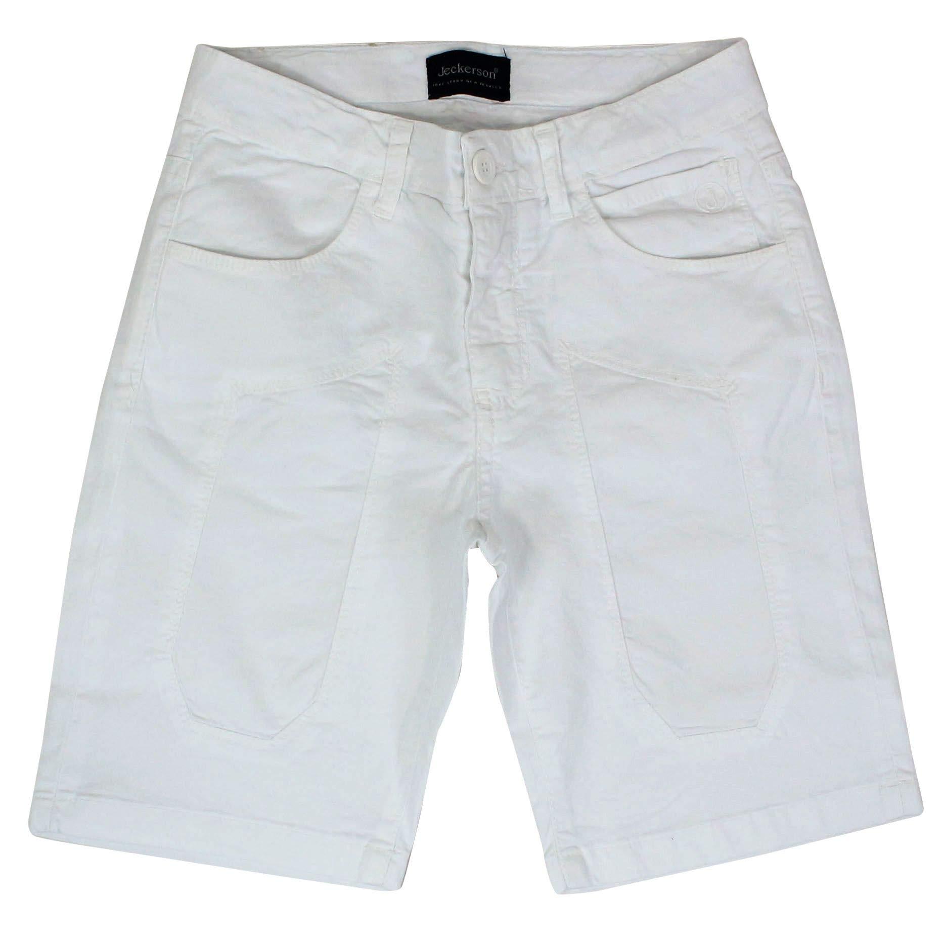 Jeckerson Boys J964bianco White Cotton Shorts