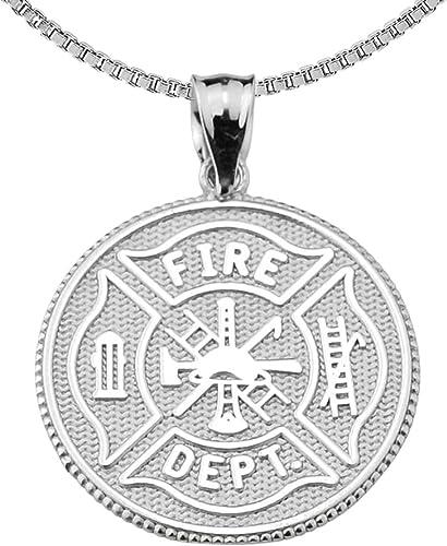 925 Sterling Silver Maltese Cross Firefighter NEW Fire Department Charm