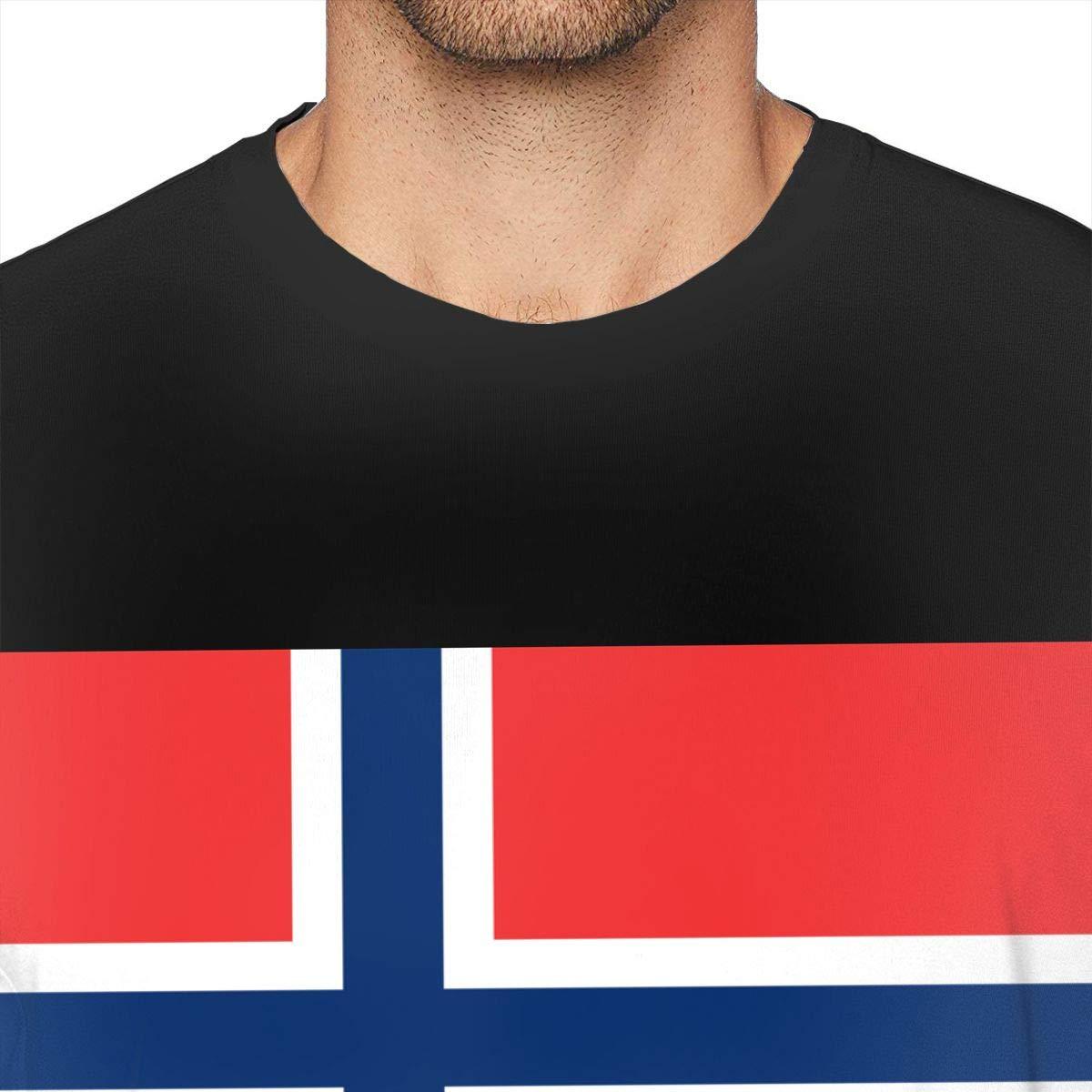 MSKKLA Flag of Norway Patriotic T-Shirt Adult Comfortable Short-Sleeve T-Shirts T-Shirt Plus Size