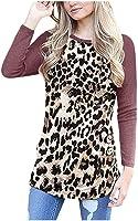 Reooly Camiseta con Estampado de Leopardo