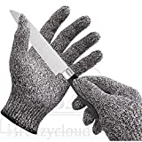 Brezzycloud Cut Resistant Gloves For Meat Cutting and Wood Carving Work Safety (1 Pair)