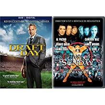 Any Given Sunday DVD AL Pacino Football Movie + Draft Day Kevin Costner 2 disk Football Double Feature Set