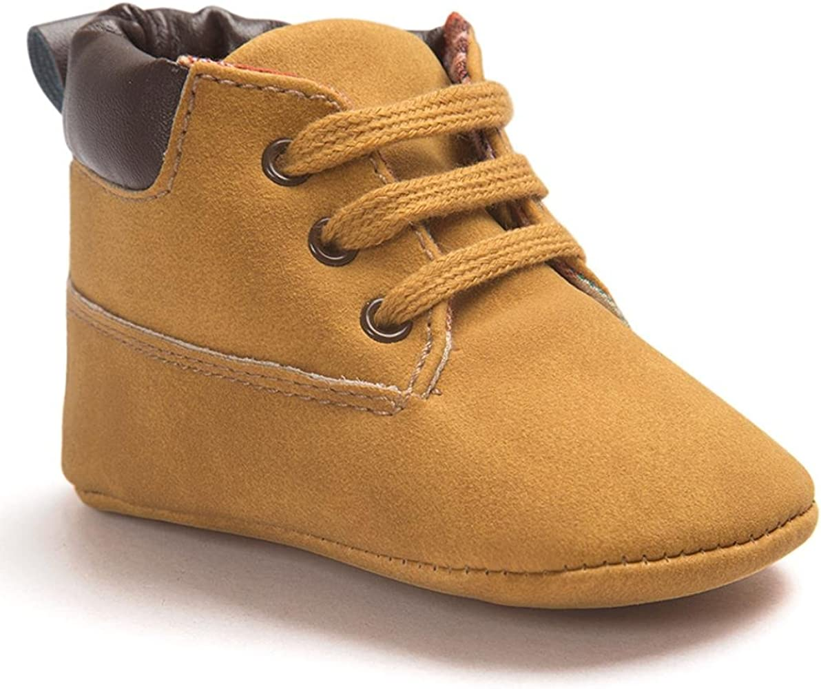 Creazrise Unisex Baby Boys Girls Star High Top Sneaker Soft Anti-Slip Sole Newborn Infant First Walkers Canvas Denim Shoes