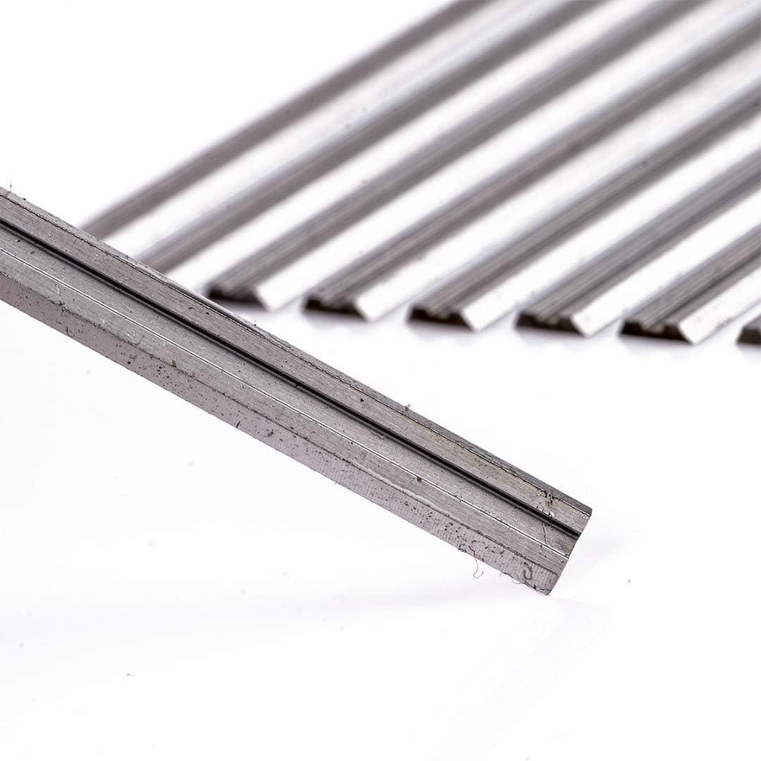 Haude 10 cuchillas reversibles de acero de alta velocidad 82 mm x 5,5 mm para cortar madera blanda y dura de madera contrachapada herramienta de potencia para carpinter/ía