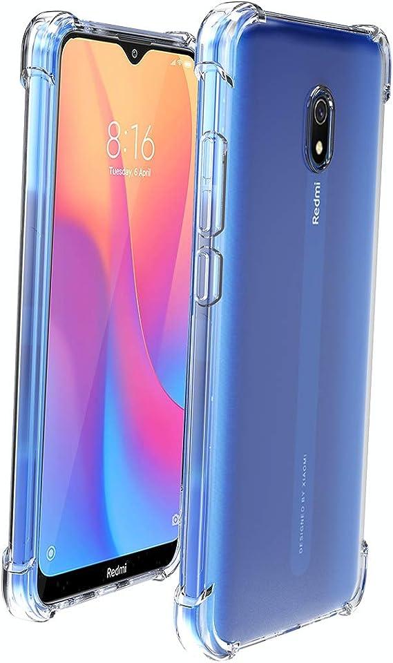 Souple Flexible Silicone Gel TPU Housse Case Cover avec Verre Tremp/é Protection d/écran 1 Pi/èces MP-MALL Coque pour Xiaomi Redmi 8a, pour Xiaomi Redmi 8a Antid/érapant Clair