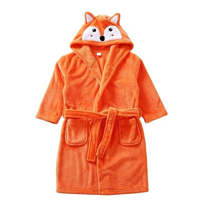 Niños Albornoz Camisón Toalla de Baño Pijamas Baño Cómoda Ropa de Dormir Bata de Baño: Amazon.es: Bebé