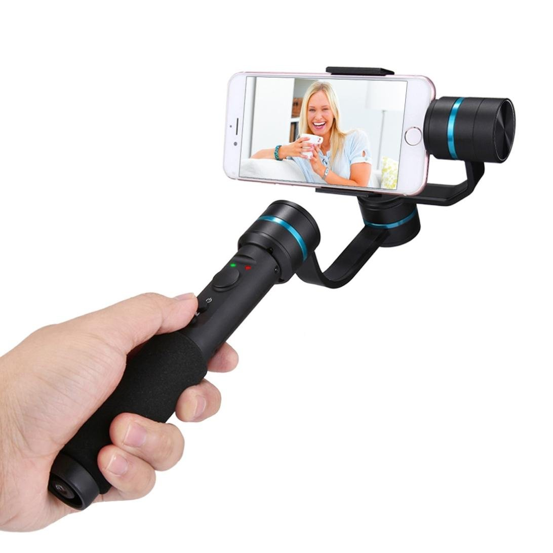 Aobiny Holder Three-axis Hand-held Cradle Head Camera Anti-shake Stabilizer (Black) by Aobiny (Image #8)