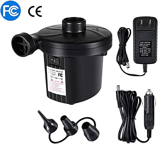 Electric Air Pump Quick-fill Portable Inflator Deflator For Outdoor Home