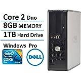Dell Optiplex 780 SFF Desktop Business Computer PC (Intel Dual-Core Processor up to 3.0GHz, 8GB DDR3 Memory, 1TB HDD, DVD ROM, Windows Professional) (Certified Refurbishd)