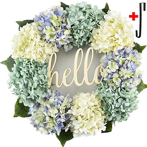 Summer wreath for front door Handmade Wreath ,welcome