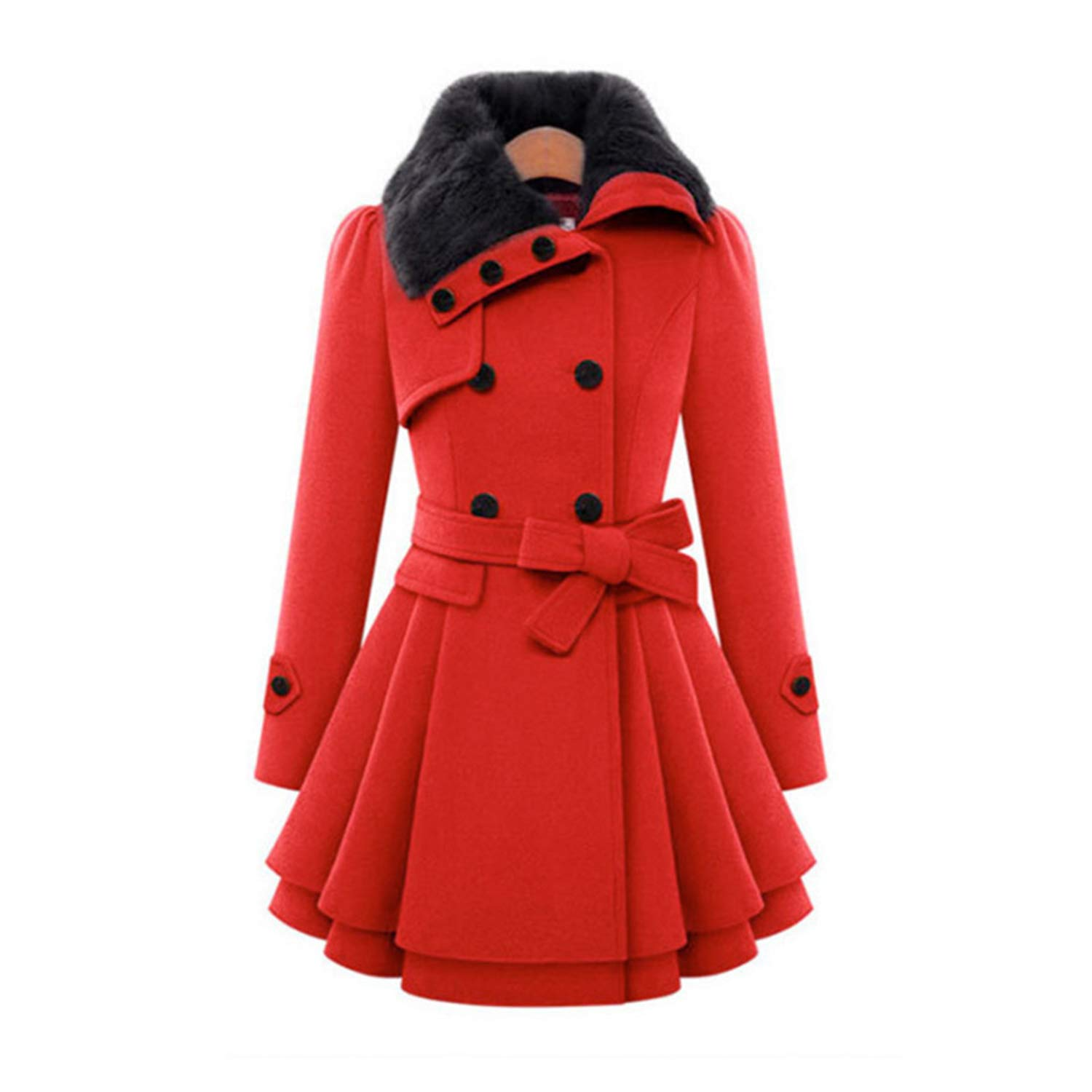 Avory Wool & Blends Coats Female Jacket Winter Woman Coat Warm Windbreaker Plus Size Abrigos Mujer Invierno New at Amazon Womens Clothing store: