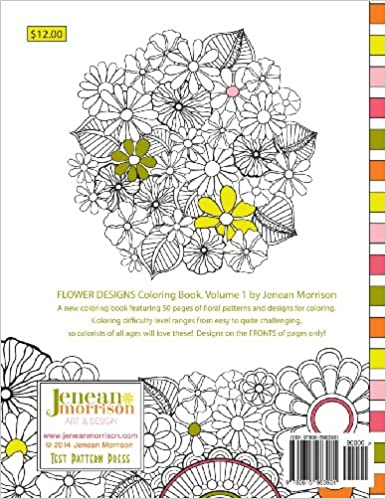 Counting Number worksheets math addition coloring worksheets : Flower Designs Coloring Book: An Adult Coloring Book for Stress ...