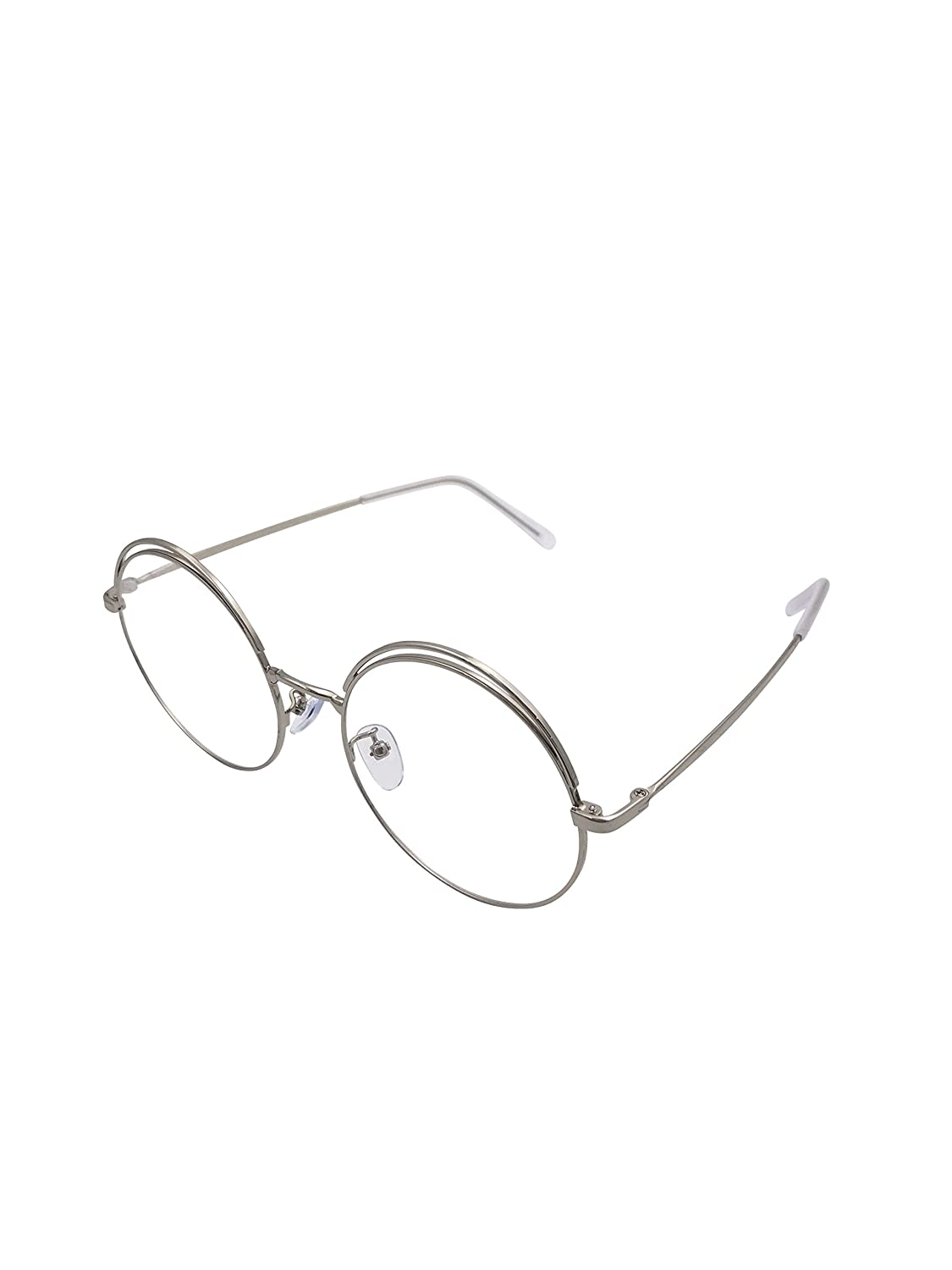 XYAS Retro Glasses Metal Frame Unisex muti-colors clear lens light and exquisite Eyewear
