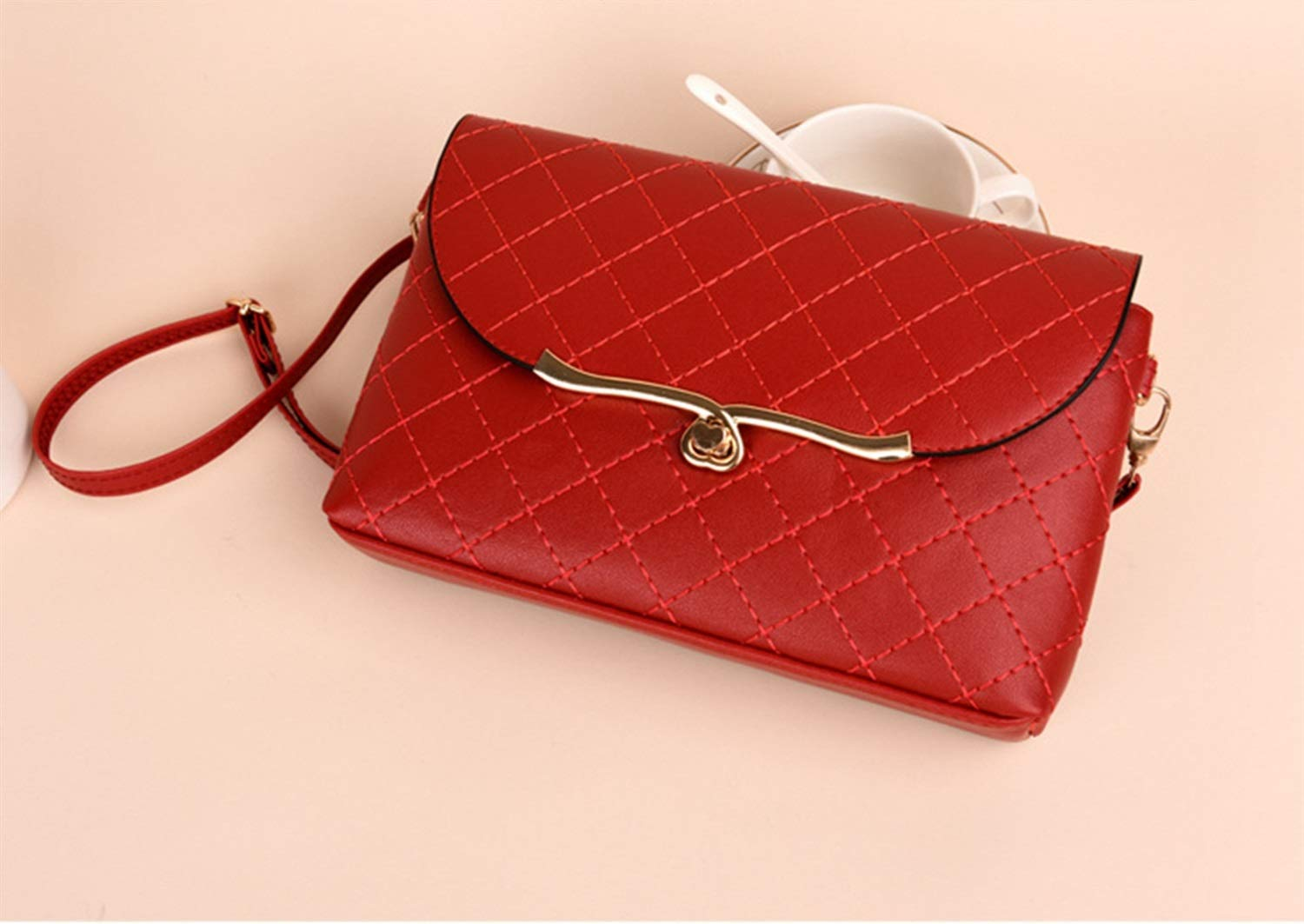 Color : Red Carriemeow Womens Elegant PU Leather Embroidery Fanny Pack Cute Waist Pouch Stylish Travel Cell Phone Bag
